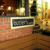 butlers pantry - outside sign