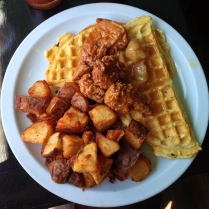 hogtown vegan - unchicken and waffles